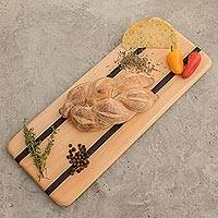 Wood cutting board, 'To Share' - Cypress and Chechen Wood Cutting Board from Guatemala
