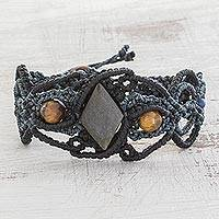Featured review for Multi-gemstone braided wristband bracelet, Stones of Strength