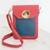 Leather cellphone case, 'Charming Simplicity in Crimson' - Leather Cellphone Case in Crimson and Azure from Costa Rica thumbail