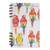 Banana leaf paper journal, 'Parrot Colors' - Signed Parrot-Themed Paper Journal from Costa Rica (image 2a) thumbail