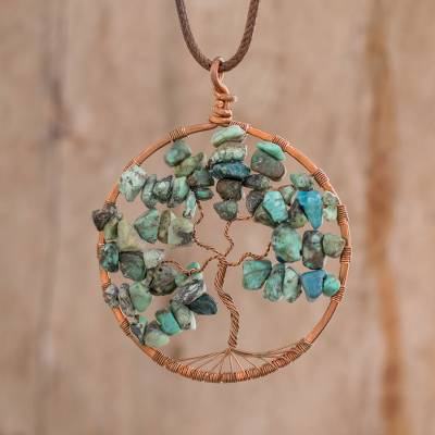 Pendant necklace, Cancer Tree of Life