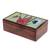 Glass mosaic tea box, 'Two Butterflies' - Floral Butterfly Glass Mosaic Tea Box from Costa Rica (image 2a) thumbail