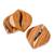 Teak wood coasters, 'Coffee Morning' (set of 4) - Coffee-Themed Teak Wood Coasters from Costa Rica (Set of 4) (image 2a) thumbail