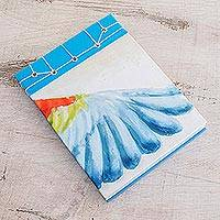 Paper journal, 'Macaw's Wing' (5.5 inch) - Parrot-Themed Paper Journal from Costa Rica (5.5 inch)