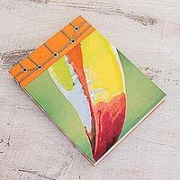Paper journal, 'Toucan Beak' (5.5 inch) - Toucan-Themed Paper Journal from Costa Rica (5.5 inch)