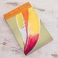 Paper journal, 'Toucan Beak' (8.5 inch) - Toucan-Themed Paper Journal from Costa Rica (8.5 inch)