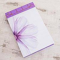 Paper journal, 'Lavender' (8.5 inch) - Lavender-Themed Paper Journal from Costa Rica (8.5 inch)