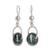 Jade dangle earrings, 'Wheel of Fortune' - Circular Dark Green Jade Dangle Earrings from Guatemala thumbail