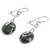 Jade dangle earrings, 'Wheel of Fortune' - Circular Dark Green Jade Dangle Earrings from Guatemala (image 2c) thumbail