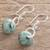 Jade dangle earrings, 'Light Green Wheel of Fortune' - Circular Light Green Jade Dangle Earrings from Guatemala (image 2b) thumbail