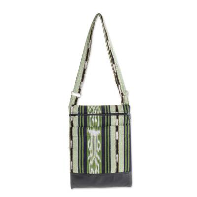 Handwoven Cotton Sling in Green from El Salvador (12.5 in.)