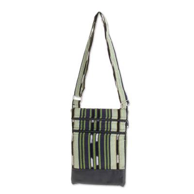 Handwoven Cotton Sling in Green from El Salvador (11 in.)