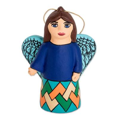 Ceramic Angel Christmas Holiday Ornament Form Nicaragua