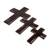 Wood wall crosses, 'Symbol of Love in Brown' (set of 3) - Wood Wall Crosses in Brown from Guatemala (Set of 3) (image 2c) thumbail