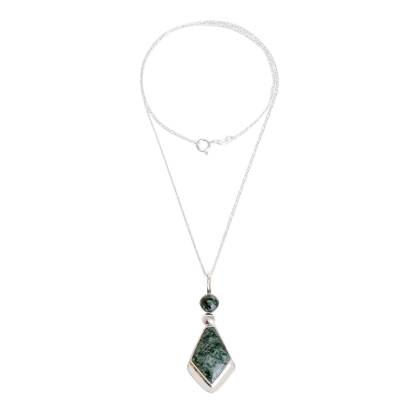 Jade pendant necklace, 'Green Mayan Arrow' - Arrow-Shaped Green Jade Pendant Necklace from Guatemala