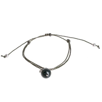 Natural Jade Charm Bracelet from Guatemala