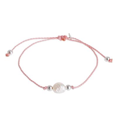 Cultured Pearl Pendant Bracelet from Guatemala