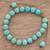 Beaded bracelet, 'Turquoise Hue' - Reconstituted Turquoise Beaded Bracelet from Guatemala thumbail