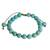 Beaded bracelet, 'Turquoise Hue' - Reconstituted Turquoise Beaded Bracelet from Guatemala (image 2a) thumbail