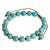 Beaded bracelet, 'Turquoise Hue' - Reconstituted Turquoise Beaded Bracelet from Guatemala (image 2b) thumbail