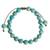 Beaded bracelet, 'Turquoise Hue' - Reconstituted Turquoise Beaded Bracelet from Guatemala (image 2d) thumbail