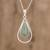 Jade pendant necklace, 'Apple Green Usumacinta Drop' - Teardrop Apple Green Jade Pendant Necklace from Guatemala thumbail