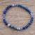 Sodalite and jasper beaded stretch bracelet, 'Magic Sky' - Sodalite and Jasper Beaded Stretch Bracelet from Guatemala thumbail