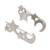 Sterling silver climber earrings, 'Starry Moon' - Sterling Silver Star and Moon Earrings from Guatemala (image 2c) thumbail
