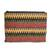 Ceramic beaded clutch, 'Complementary Stripes' - Striped Ceramic Beaded Clutch from Guatemala (image 2c) thumbail