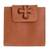 Leather wallet, 'Sepia Cross' - Handmade Leather Wallet in Sepia from El Salvador (image 2a) thumbail