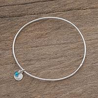 Fine silver bangle bracelet,