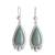 Jade dangle earrings, 'Subtle Drop' - Teardrop Apple Green Jade Dangle Earrings from Guatemala thumbail