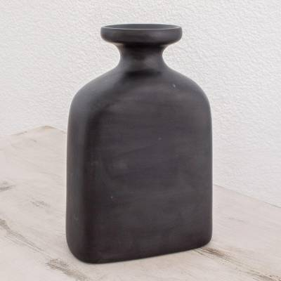 Ceramic vase, Bottle of Serenity Black