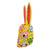 Wood mask, 'Floral Rabbit in Yellow' - Wood Floral Rabbit Mask in Yellow from Guatemala (image 2c) thumbail