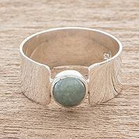 Jade band ring, 'Magic Maya in Apple Green'