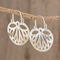 Sterling silver dangle earrings, 'Wings of the Butterfly'
