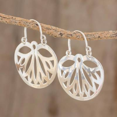 Sterling silver dangle earrings, 'Wings of the Butterfly' - Openwork Pattern Sterling Silver Dangle Earrings
