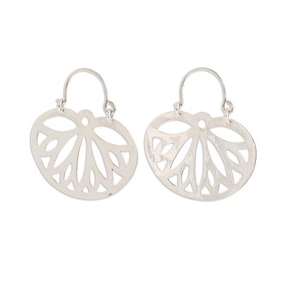 Sterling silver dangle earrings, 'Wings of the Butterfly' - Openwork Pattern Sterling Silver Dangle Earrings