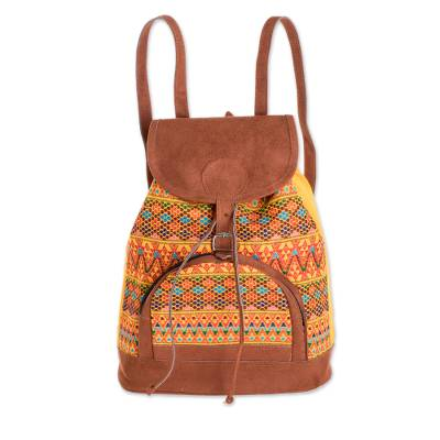 Bright Cotton Backpack Crafted in Guatemala