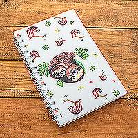 Paper journal, 'Sloth Love' - Sloth-Themed Sustainable Paper Journal from Costa Rica