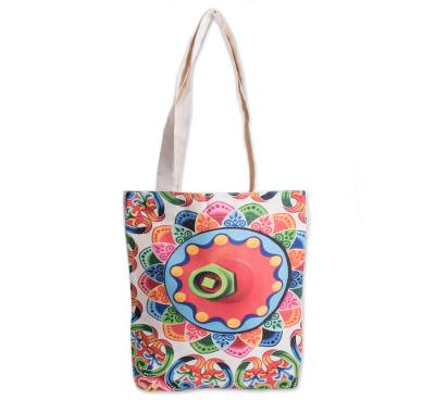 Abstract Colorful Cotton Tote from Costa Rica