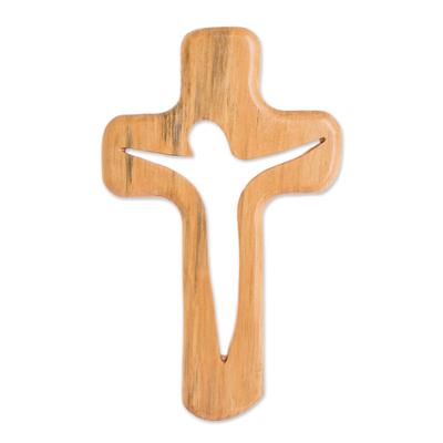 Handmade Pinewood Wall Cross from Guatemala