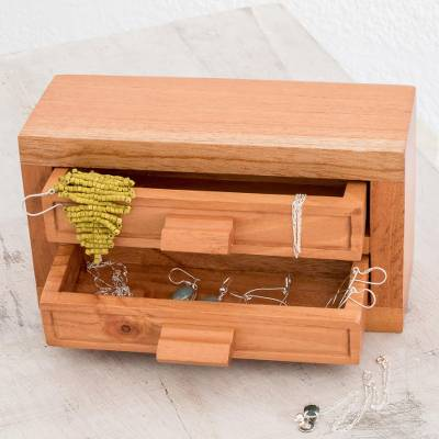 Wood jewelry chest, Feminine Harmony