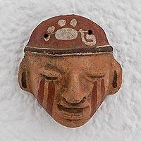 Ceramic mask, 'Mayan Potter' - Ceramic Mask of a Mayan Potter from El Salvador
