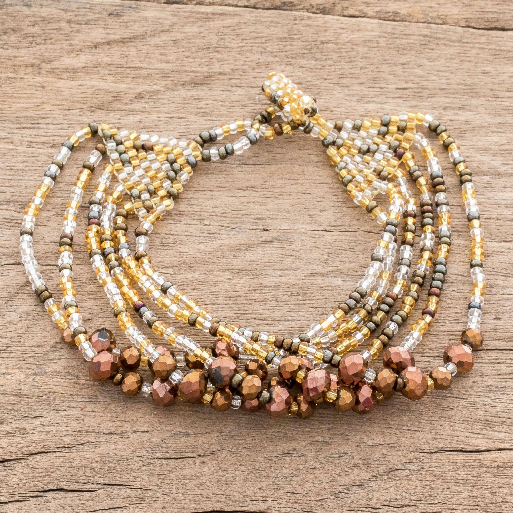 20 cm Gorgeous Crystal Artisan Bead Strand