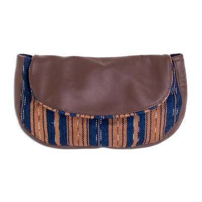 Handwoven Striped Cotton Cosmetic Bag from El Salvador