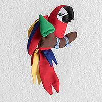 Decorative accent, 'Lovely Macaw' - Colorful Macaw Decorative Accent from Guatemala