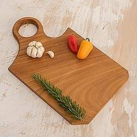 Wood cutting board, 'Mixco Morsel' - Hand Crafted Chichipate Wood Cutting or Serving Board
