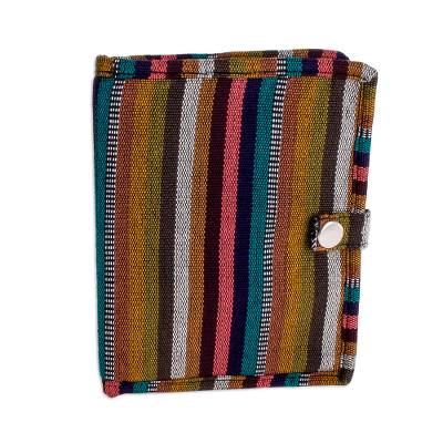 Handwoven Striped Cotton Passport Wallet from Guatemala