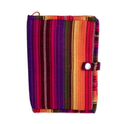Handwoven Rainbow Stripe Cotton Passport Wallet (8.5 in.)